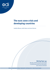 The euro zone crisis and developing countries