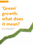 `Green growth`: what does it mean?