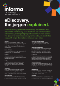 eDiscovery, the jargon explained.