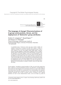 The language of change? Characterizations of in