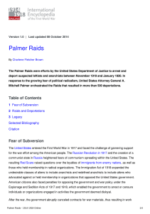 Palmer Raids - 1914-1918-Online. International Encyclopedia of the