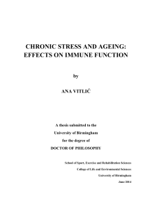 Chronic stress and ageing: effects on immune function