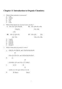 Chapter 11 Introduction to Organic Chemistry Part 2