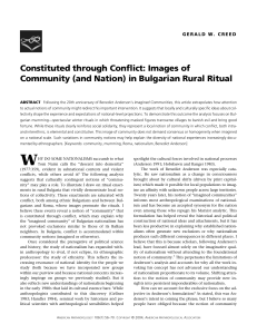 Constituted through Conflict: Images of Community (and