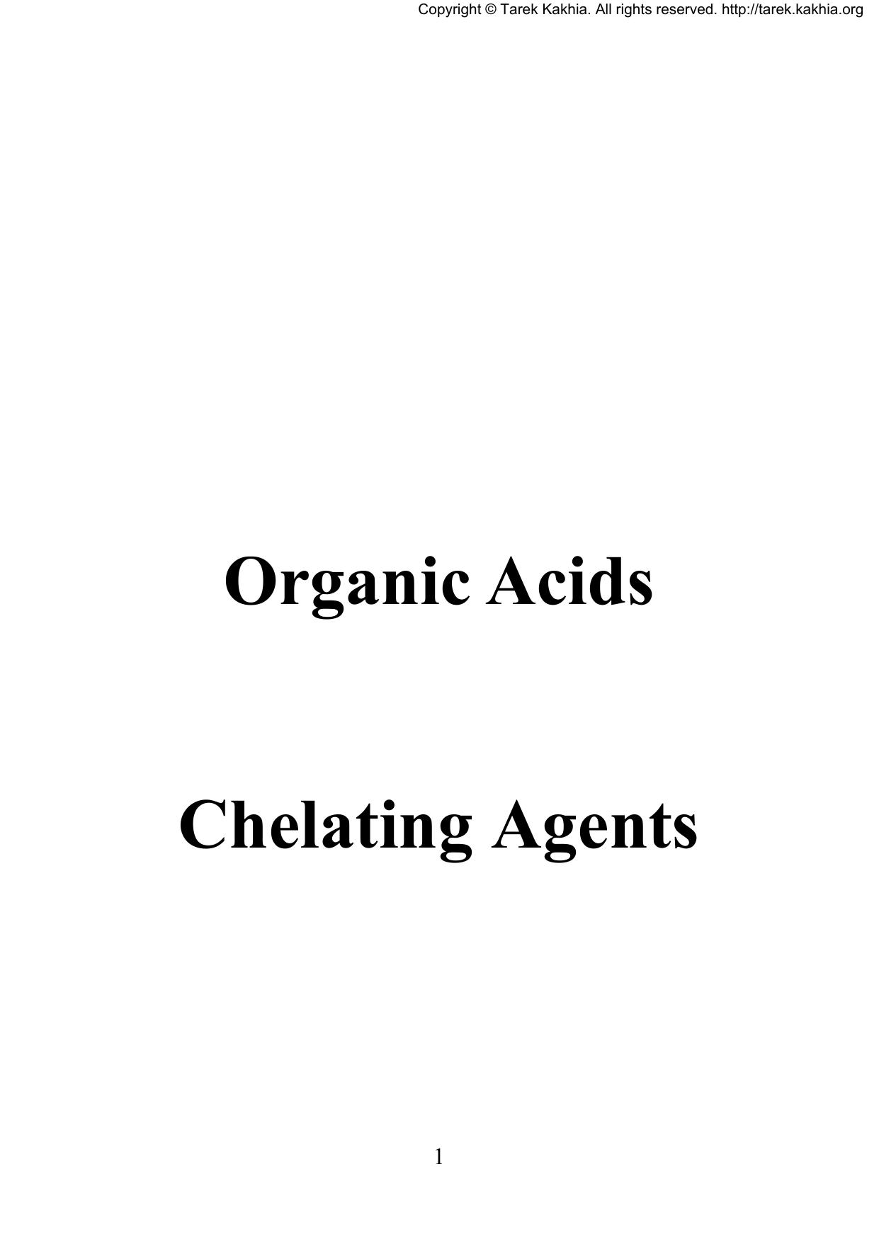 Organic Acids Chelating Agents