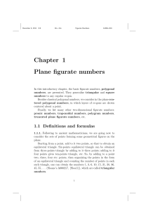 Chapter 1 Plane figurate numbers - Beck-Shop