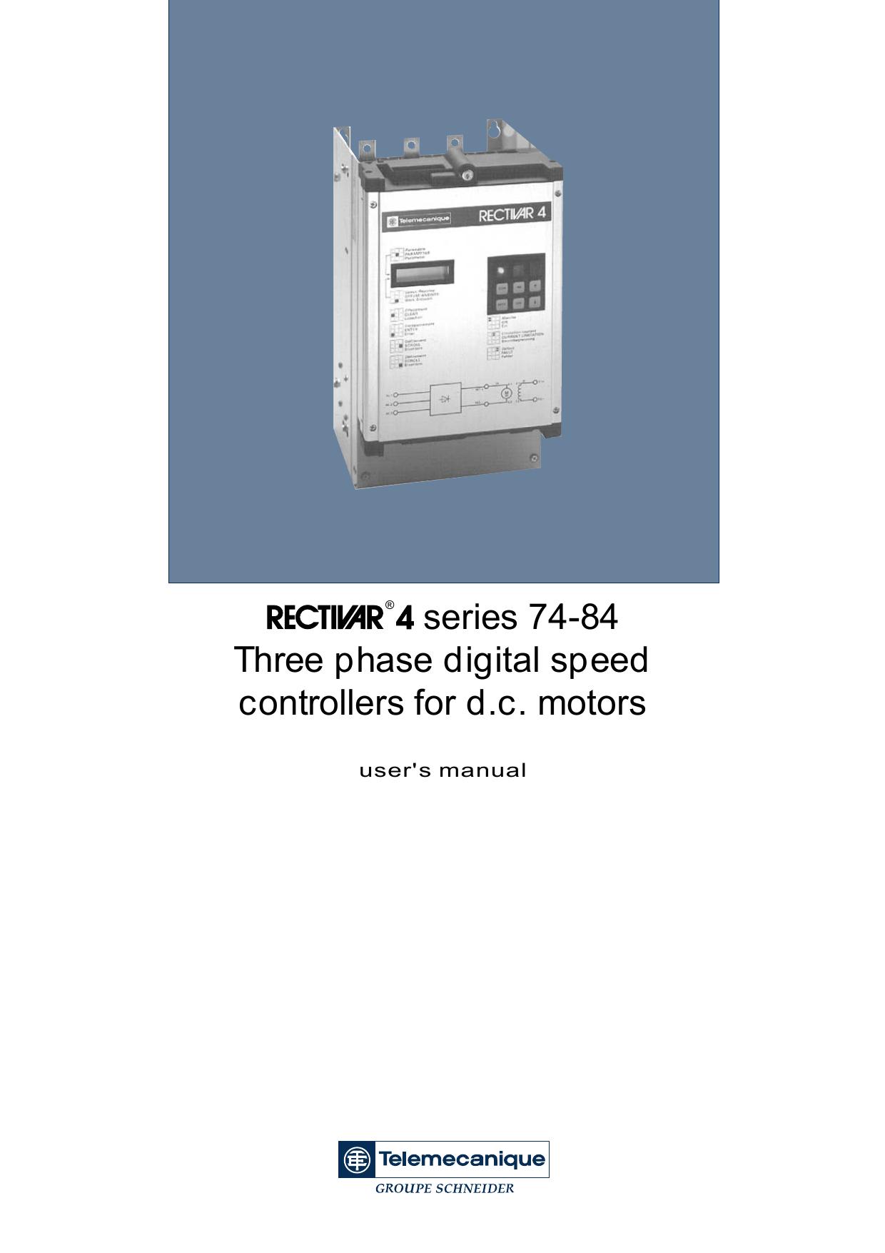 R 4series 74-84 Three phase digital speed