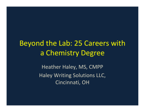 Beyond the Lab: 25 Careers with a Chemistry Degree