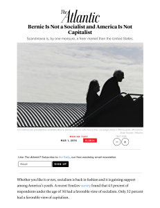 Bernie Is Not a Socialist and America Is Not Capitalist