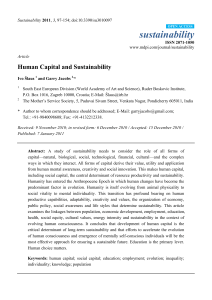 Human Capital and Sustainability