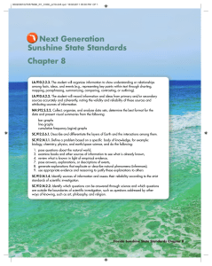 Chapter 8 Next Generation Sunshine State Standards