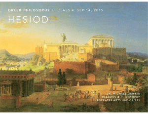 Hesiod - Ancient Philosophy at UBC