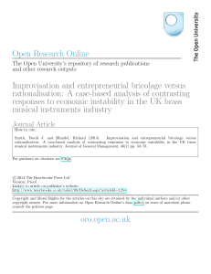Improvisation and entrepreneurial bricolage versus rationalisation: A