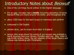 Introductory Notes about Beowulf
