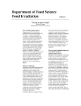 Food Irradiation Fact Sheet