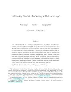 Influencing Control: Jawboning in Risk Arbitrage