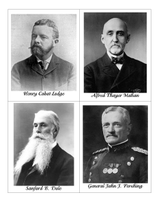 Henry Cabot Lodge Alfred Thayer Mahan Sanford B. Dole General