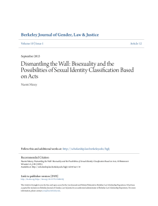 Dismantling the Wall: Bisexuality and the Possibilities of Sexual