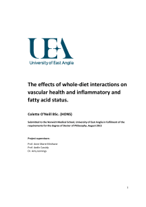 The effects of whole-diet interactions on vascular health and