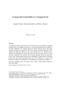 Exchange Rate Predictability in a Changing World