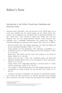 Federalism and Education Policy