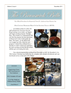 e Official Newsletter for Brunswick Town/Ft