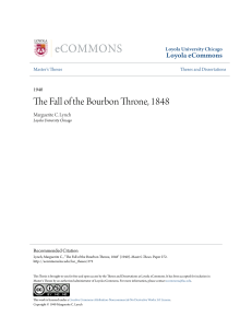 The Fall of the Bourbon Throne, 1848