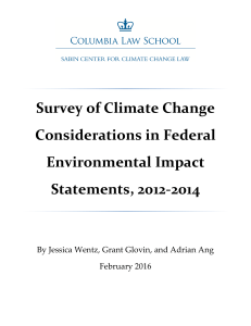 Survey of Climate Change Considerations in Federal Environmental