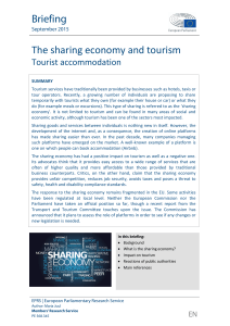 The sharing economy and tourism - European Parliament