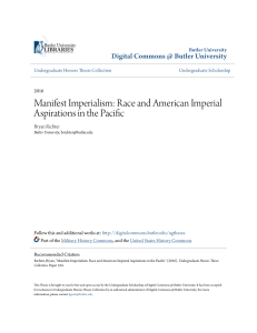 Manifest Imperialism: Race and American Imperial Aspirations in the