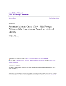 Foreign Affairs and the Formation of American National Identity