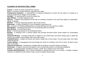 1 GLOSSARY OF ARCHITECTURAL TERMS Arcade