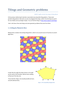Tilings and Geometric problems