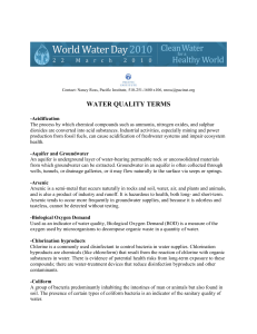 water quality terms