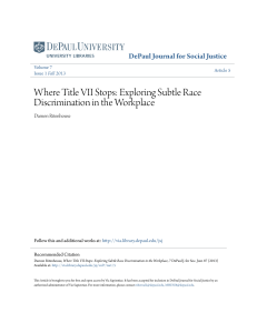 Where Title VII Stops: Exploring Subtle Race Discrimination in the