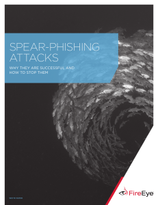 spear-phishing attacks