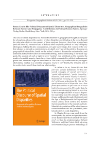Ferenc Gyuris: The Political Discourse of Spatial Disparities