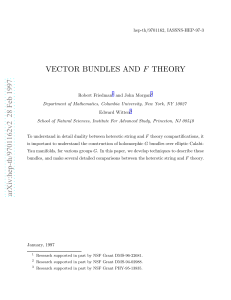 Vector Bundles And F Theory