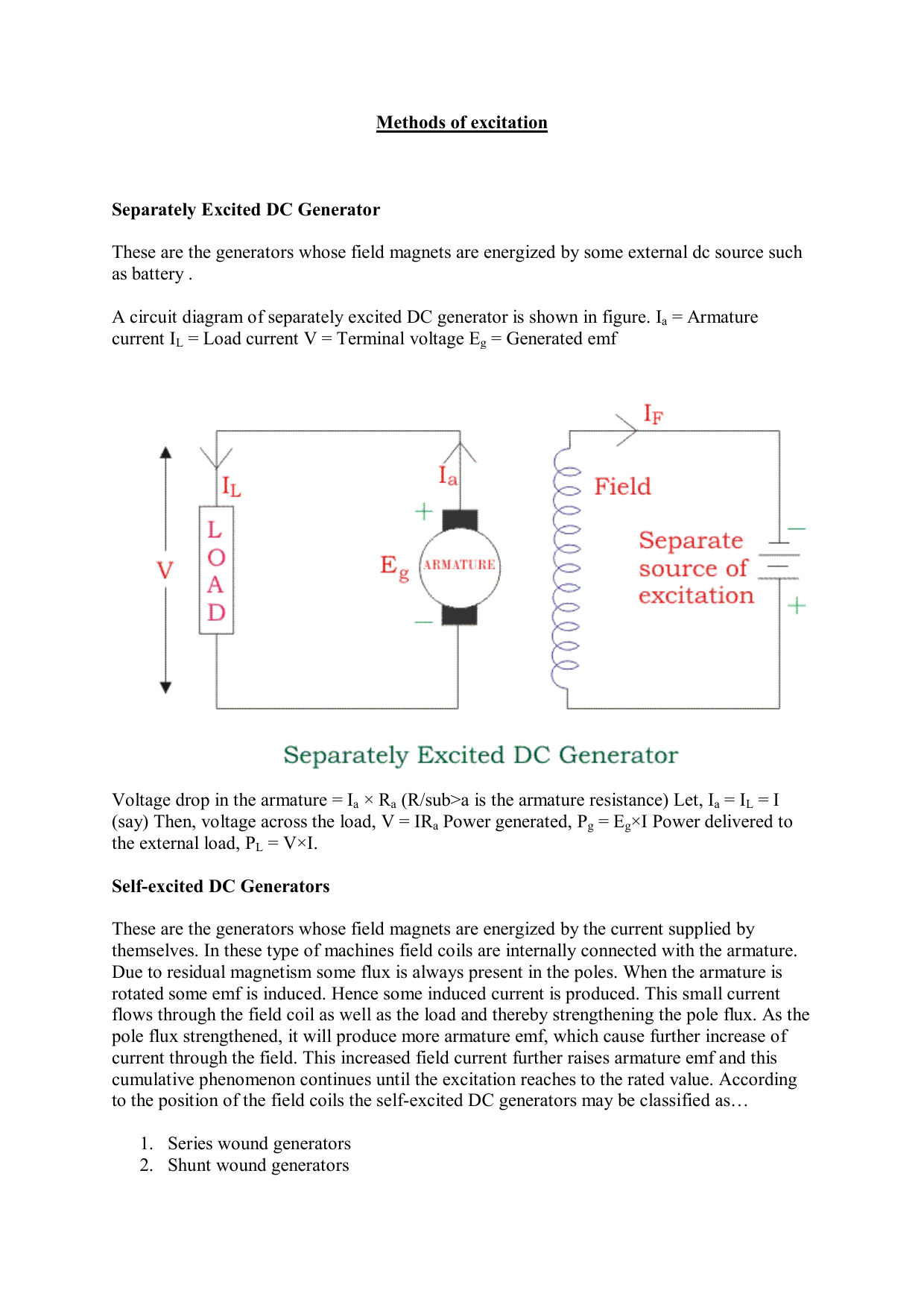 Dc Generator Circuit Diagram