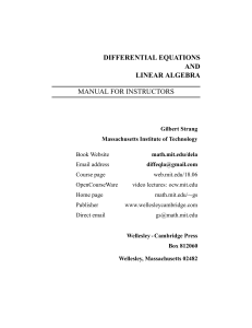 differential equations and linear algebra manual
