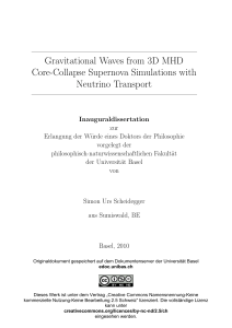 Gravitational Waves from 3D MHD Core