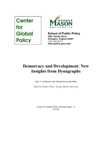 Democracy and Development: New Insights from Dynagraphs