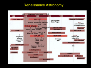 Renaissance Astronomy - Faculty Web Sites at the University of