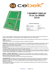 7 SEGMENT DISPLAY 15 cm. for INSIDE CD-23