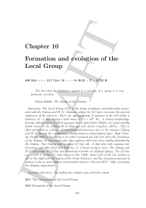 Chapter 10 Formation and evolution of the Local Group