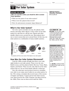 Chapter 21 A Family of Planets