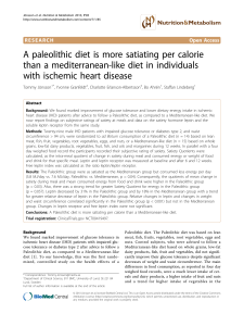 A paleolithic diet is more satiating per calorie than a mediterranean