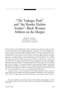 The Tuskegee Flash and the Slender Harlem Stroker