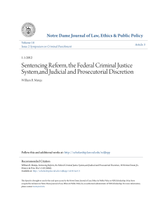 Sentencing Reform, the Federal Criminal Justice