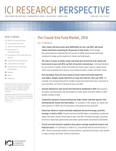 The Closed-End Fund Market, 2014